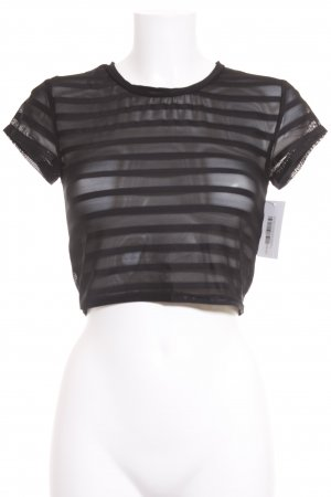 Evil Twin Cropped Shirt schwarz Streifenmuster Street-Fashion-Look
