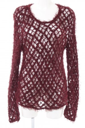 Evil Twin Coarse Knitted Sweater red weave pattern casual look