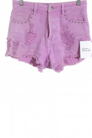 Evil Twin Denim Shorts pink distressed style