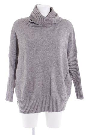 Evis Maglione dolcevita grigio chiaro-grigio puntinato stile casual
