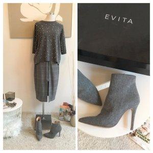 Evita Designer Ankle Boots grau 38