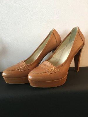Evita High heels, Pumps, Größe 39, Echtleder, hellbraun/beige,neu