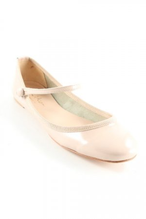 Evita Riemchen Ballerinas beige-altrosa Glanz-Optik
