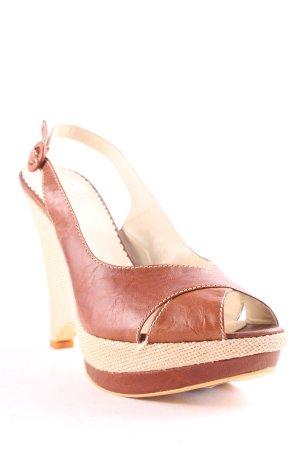 Evita Wedge Sandals brown Boho look
