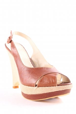 Evita Wedges Sandaletten braun Boho-Look