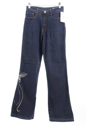 EVOG Denim Boot Cut Jeans dunkelblau Romantik-Look
