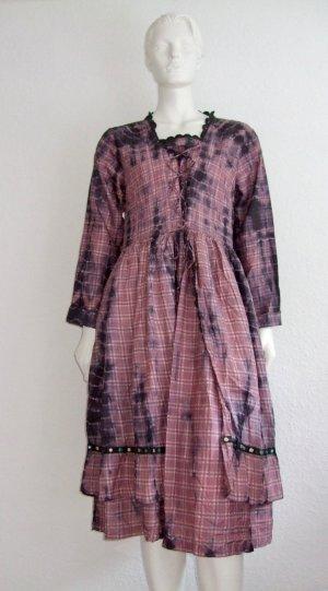 Ewa i Walla Kleid Lila Size M Batik Print New