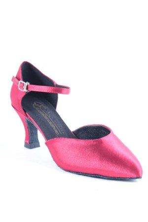Exclusive Danceshoes Strapped pumps dark red elegant