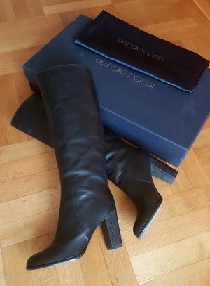 Exclusive Sergio Rossi echtes Leder Stiefel Gr 40 UVP 890€