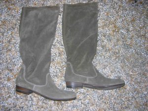 Vic Matie Wide Calf Boots grey brown leather