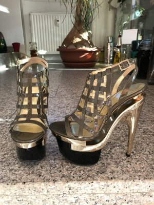 Exclusive Versace triple platform Sandale in Lackleder, Gr. 39