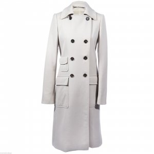 Gucci Trench Coat light grey-oatmeal mixture fibre