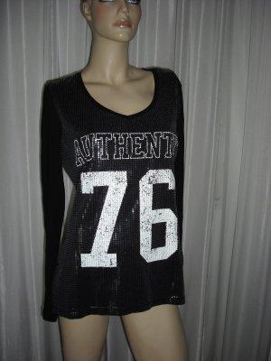 Exclusives Design Shirt mit Pailetten und Spitze Street One  Gr 38
