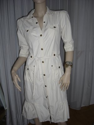 Exclusives Designerkleid Creme Gr 38 neuwertig Safari Style