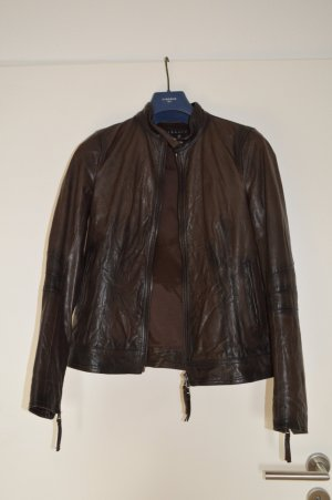 Theory Leather Jacket brown leather
