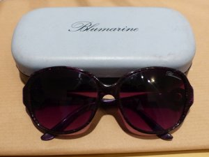 Blumarine Oval Sunglasses brown violet