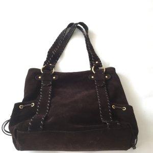 Exklusive Wildleder-Handtasche