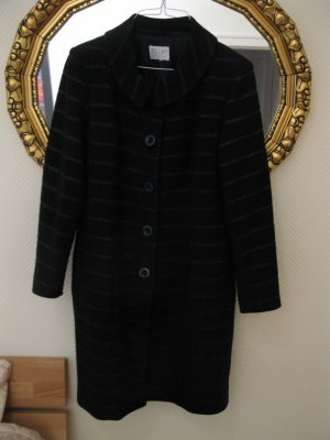 Exklusiver, eleganter, dunkelblauer Mantel aus Wolle v.Modedesignerin, Einzelstück, D36