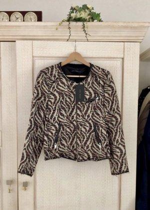 Exklusiver neuer Bouclé Blazer von Zara, mit Etikett