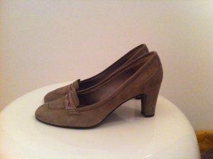 Zapatos Informales marrón grisáceo Gamuza
