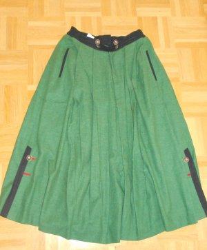 Folkloristische rok bos Groen-zwart