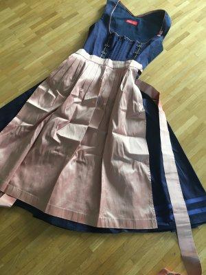Vestido Dirndl rosa-azul oscuro