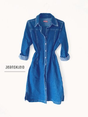 Exklusives Jeans Kleid mit Knöpfen von Broadway Blue Denim