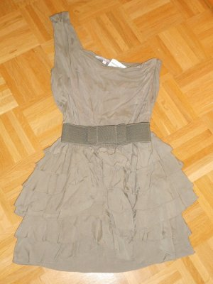 Anastacia by s.Oliver Cocktail Dress grey brown cotton