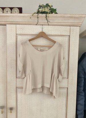 H&M Premium Haut à basque beige clair-crème polyester