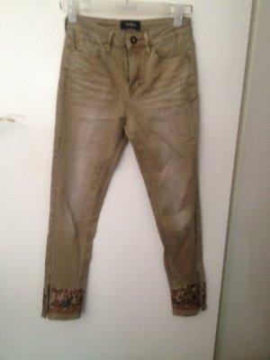 Desigual 7/8-jeans beige-groen-grijs Katoen