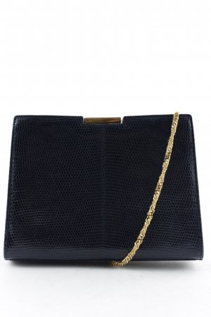 Exotique Minitasche dunkelblau-goldfarben Vintage-Artikel