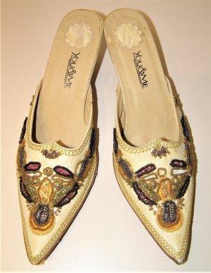 Slip-on Shoes multicolored silk