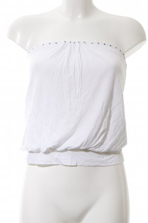 Express Bandeau top wit casual uitstraling