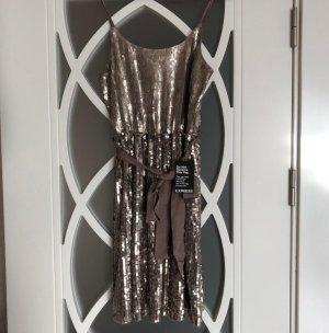 Express gold/ Bronze Pailletten Kleid für einen Anlass