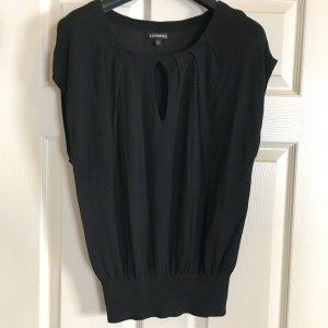Express Top Tunika schwarz Gr S Feinstrick Shirt Boho