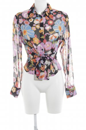 Express Transparenz-Bluse Blumenmuster Casual-Look