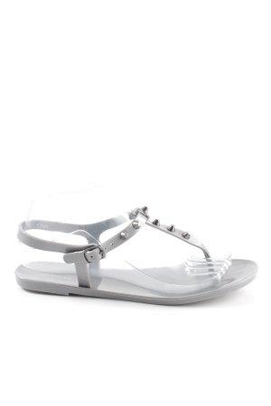 Express Sandalo toe-post grigio stile spiaggia