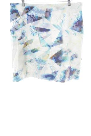 Expresso Bleistiftrock weiß-blau abstraktes Muster extravaganter Stil