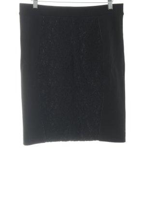 Expresso Bleistiftrock schwarz florales Muster Elegant