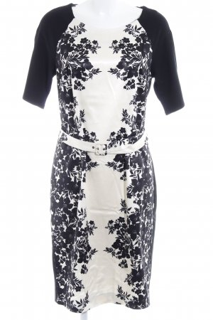 Expresso Etuikleid creme-schwarz florales Muster Elegant