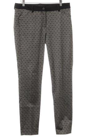 Expresso Lage taille broek zwart-goud verfraaid patroon extravagante stijl