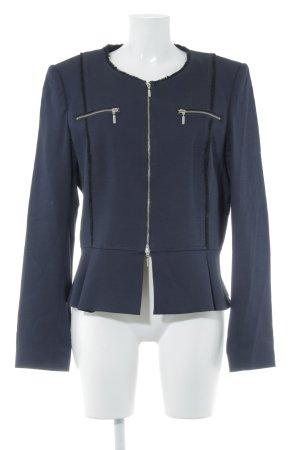 Expresso Blazer in jersey blu scuro stile professionale