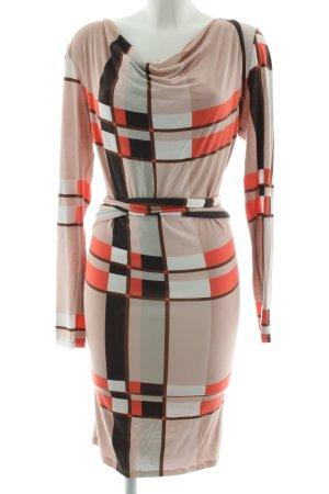 Expresso Jerseykleid grafisches Muster Elegant