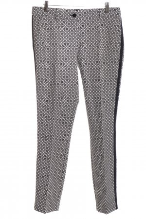 Expresso Peg Top Trousers black-white allover print casual look