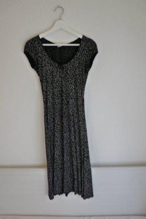 Expresso Kleid geblümt schwarz weiß XS S 36 38 Maxikleid Designer Fashion