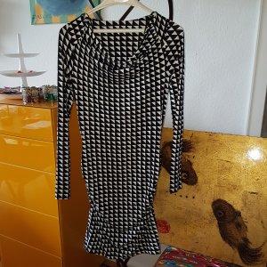 Expresso Kleid graf. Muster schwarz/weiss Gr.36 S *wie neu*