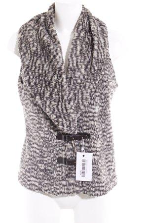 Expresso Fake Fur Vest grey-natural white spots-of-color pattern fluffy
