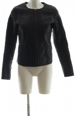 Expresso Faux Leather Jacket black business style