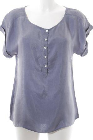 Expresso Kurzarm-Bluse kornblumenblau Casual-Look
