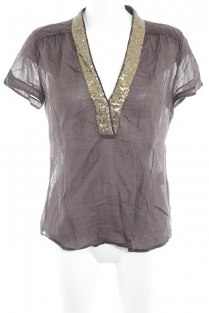 Expresso Kurzarm-Bluse schwarzbraun Casual-Look